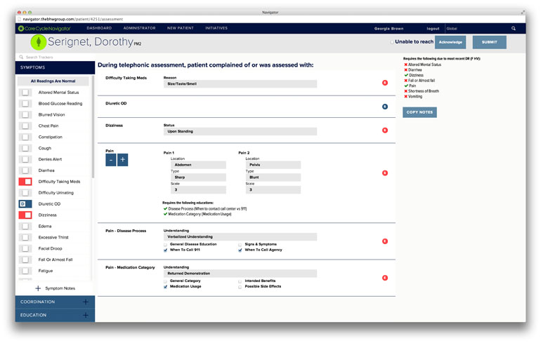 CareCycle Navigator - Assessment Form
