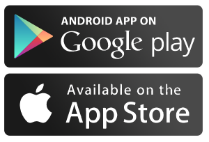 Available on the app store and on Google Play