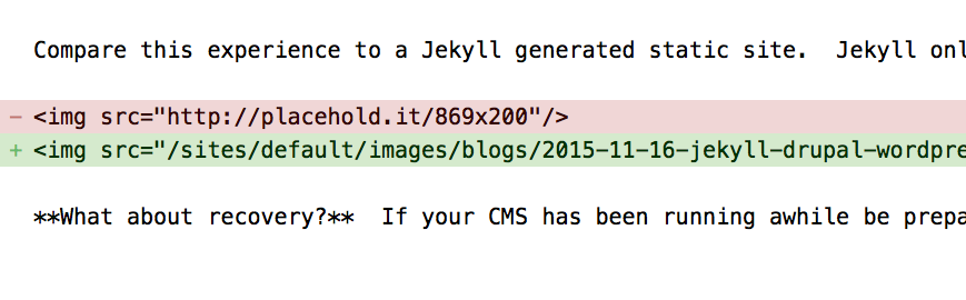 Jekyll allows easy calculation of differences to better understand what has changed