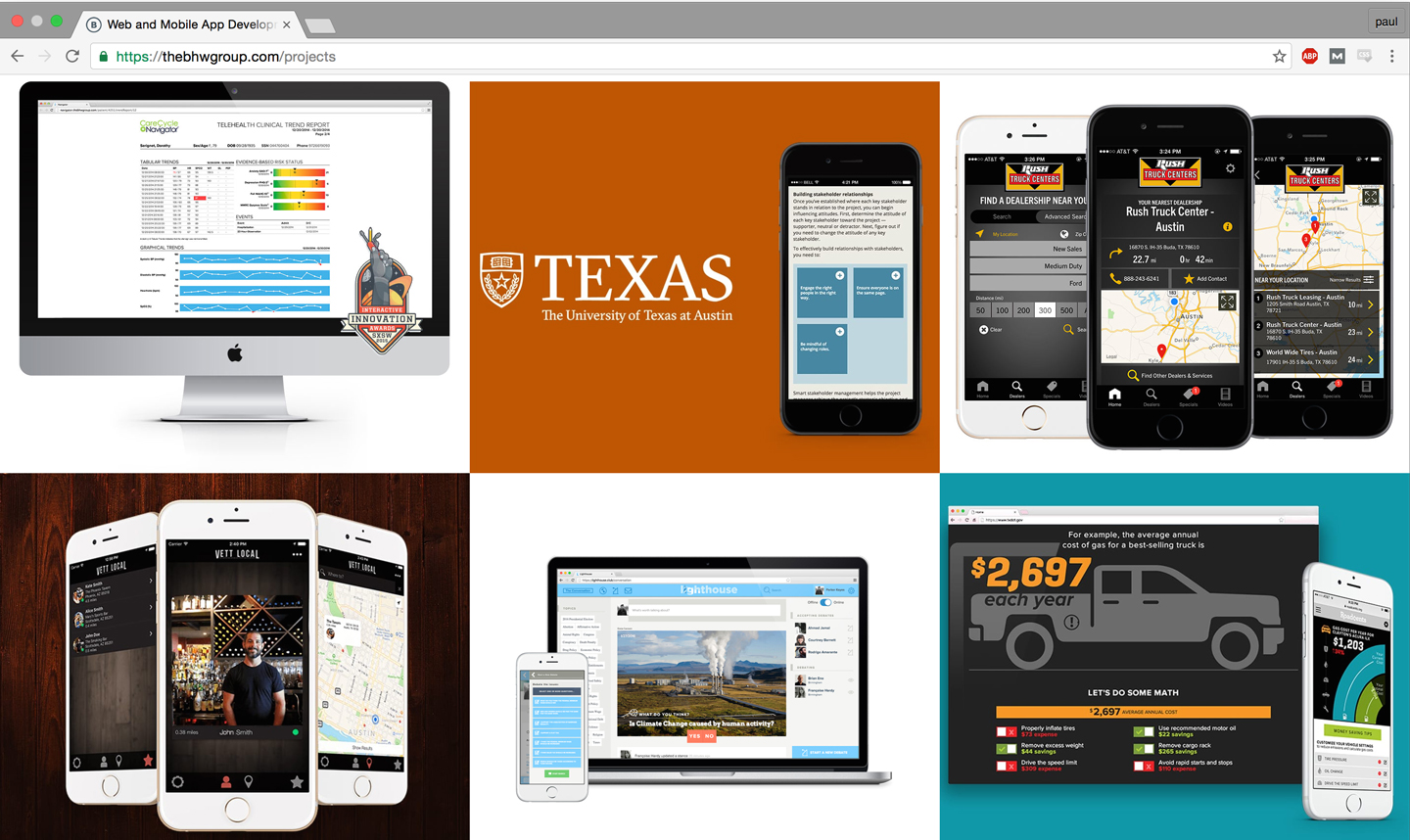 Portfolio of web and mobile apps.