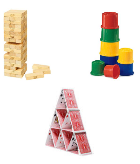Various building blocks used as an analogy of technology stacks.