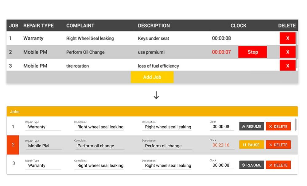 Final app redesign using material design
