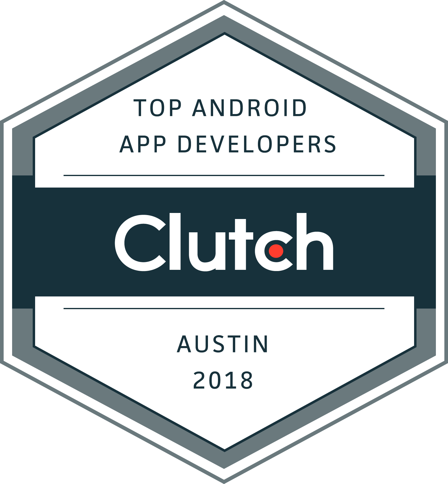 Top Android App Development Comany Austin, TX 2018 Badge