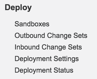 Salesforce deploy links