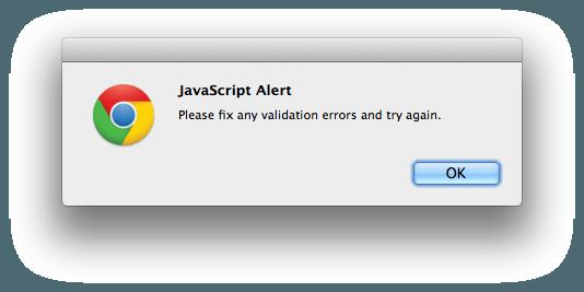AngularJS error popup