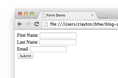 AngularJS form