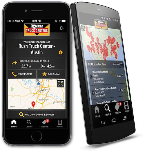 Native mobile locator app