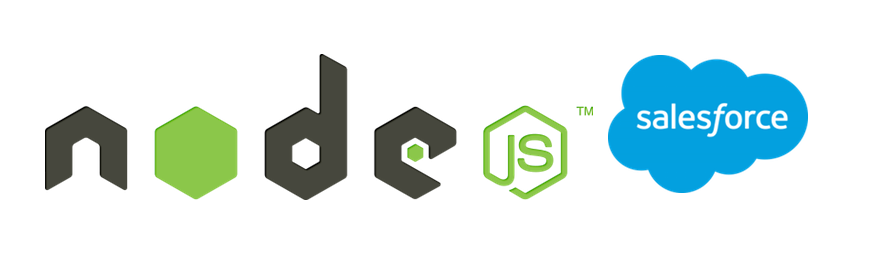 Node & Salesforce logos