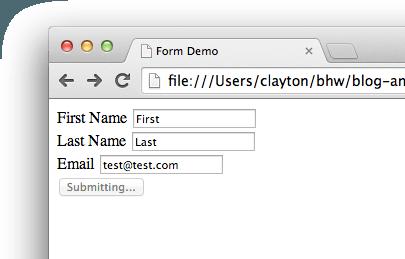 AngularJS submitting
